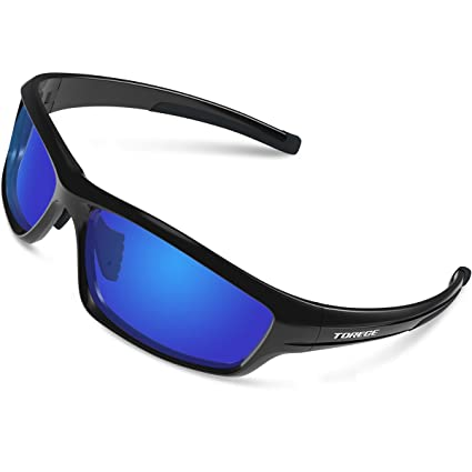 f190c90042 TOREGE Polarized Sports Sunglasses for Man Women Cycling Running Fishing  Golf TR90 Unbreakable Frame TR034 (