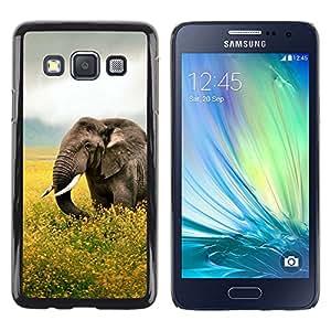 EJOY---Cubierta de la caja de protección la piel dura para el ** Samsung Galaxy A3 ** --Happy Elephant
