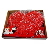 luvhunter Love Car Bow, Wedding Car Deco Set, Red