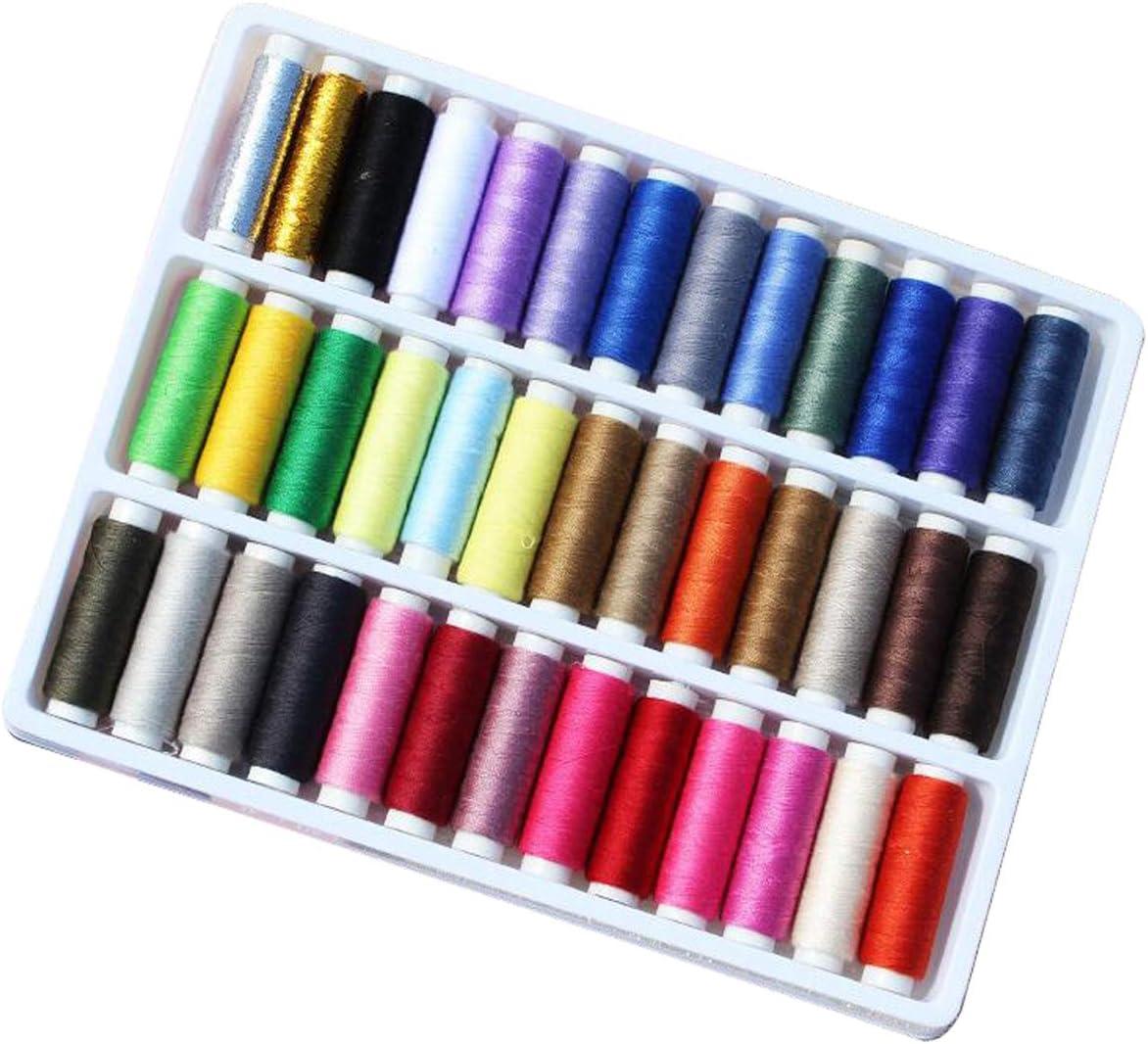 Mucho Color Ideal para Acolchar Coser a Mano Coser 39 packs RYTECH Hilos de Coser Hilo Fuerte para Coser a Mano en m/áquinas de Coser