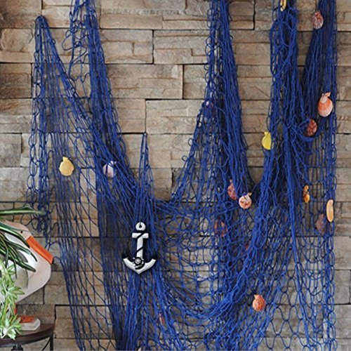 kingso-mediterranean-style-decorative-fish-net-with-anchor-and-shells-blue