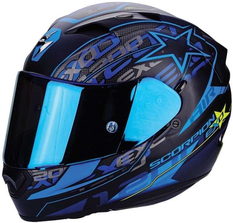 Scorpion Motorrad Helm Exo 1200 Air Solis Mattschwarz Blau Größe S Auto