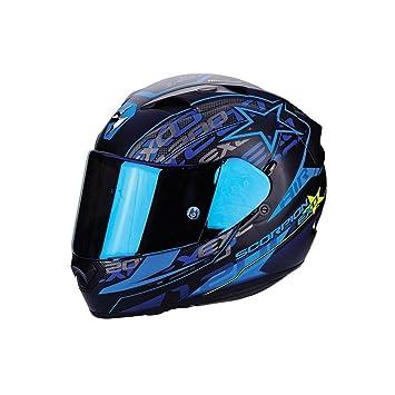 Scorpion EXO-1200 Air Solis - Casco para moto, Matt Black/Blue,