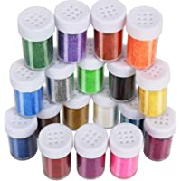 Multi-Colors Fine Glitter Powder, 18 Colors