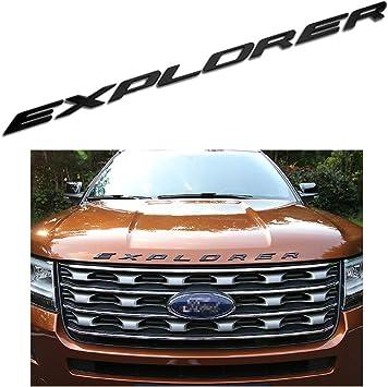 Hood 3D Gloss Black Emblem 8 Letters Fit 2011-2017 Ford Explorer Sport Sticker