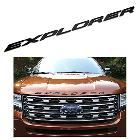Fit for Ford Explorer Sport Chrome Black Front Hood Emblem Letters Badge Decal Exotic Store F-ERS 2011-2017 3D Metal not plastic Chrome