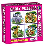 Creative Educational Aids 0760 Early Puzzle - Wild Animals