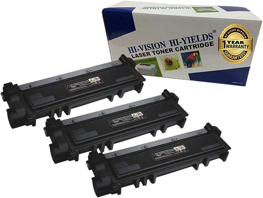 HI-Vision 3 Pack Compatible 593-BBKD, PVTHG Toner Cartridge Replacement for Dell E310dw/ E514dw/ E515dw/ E515dn (High Yield Black)
