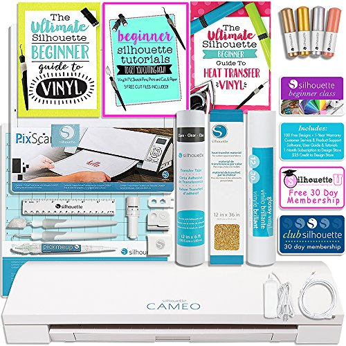Silhouette CAMEO 3 Touch Screen Bundle with Guide Books, Online Class, Vinyl and More! by Silhouette America