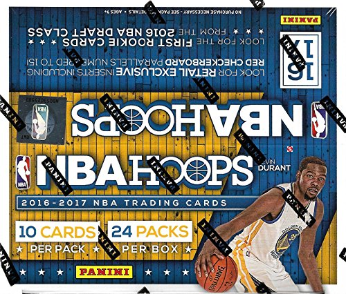 2 Card Basketball Series Box - HOOPS 2016 2017 NBA Basketball Retail Series HUGE Unopened Box of Packs Containg 240 cards including Possible Autographed Cards and Retail EXCLUSIVE Inserts