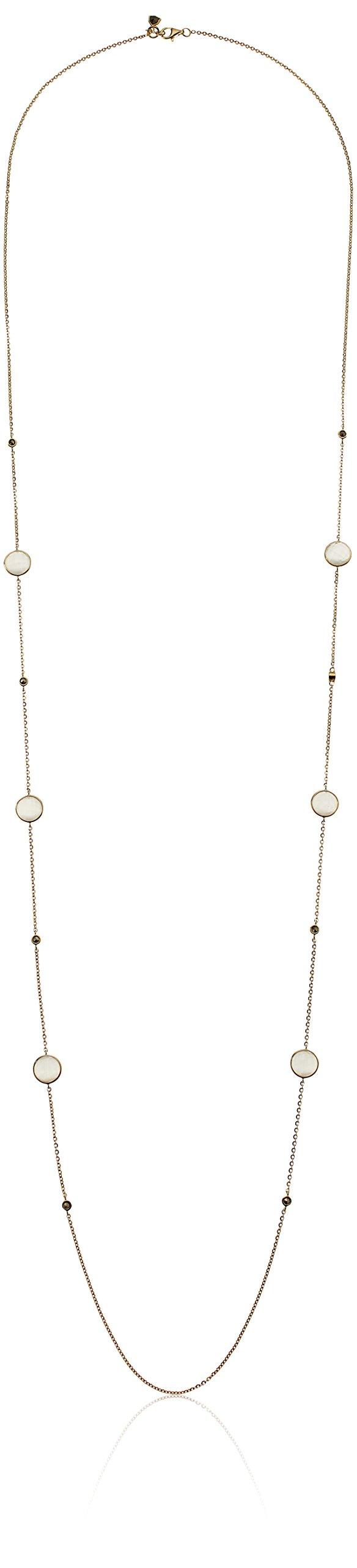 Judith Jack Sterling Silver/Swarovski Marcasite Gold-Tone White Strand Necklace