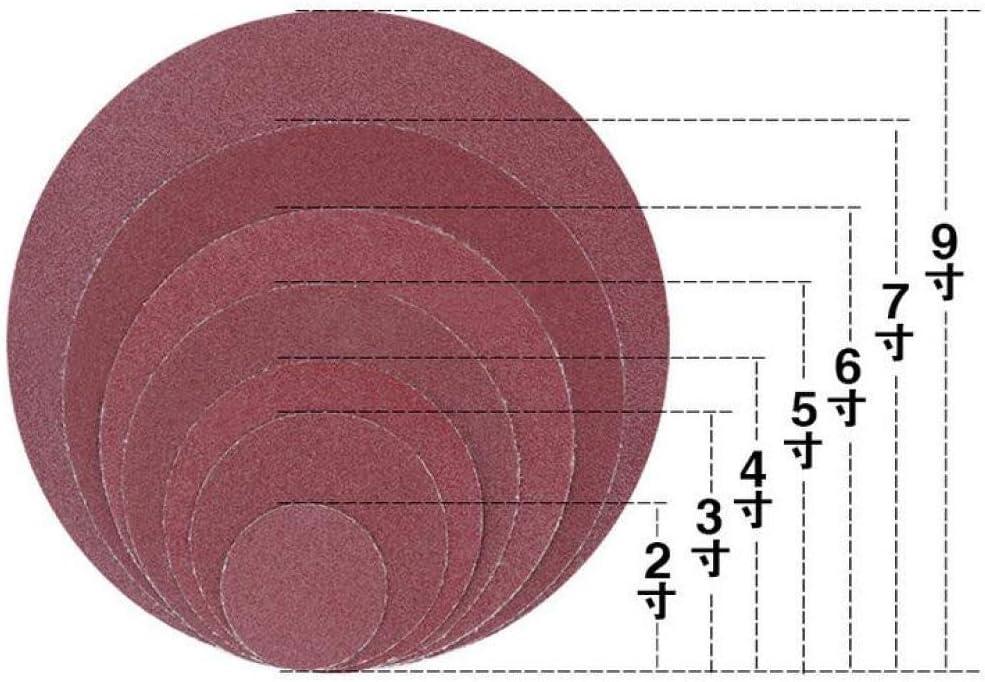 FQD&BNM Round Sandpaper, 100pcs 6 Inch 150mm Disk Sand Sheets Grit 40-2000 for Choose Hook Loop Sanding Disc for Sander Grits,Grit 120 Grit 1500