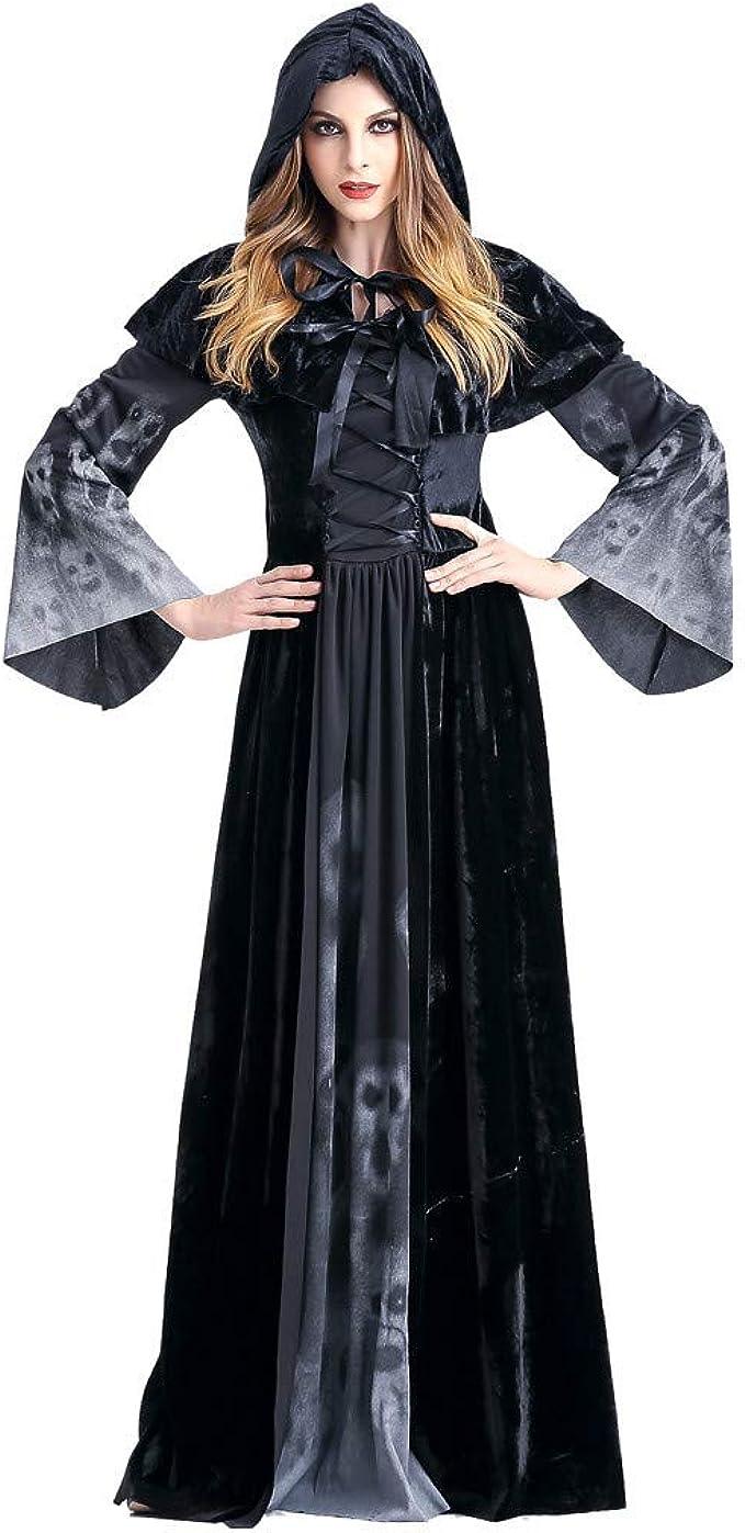 Halloween Disfraz para Mujer, Vestidos de Bruja Vintage Disfraz de ...