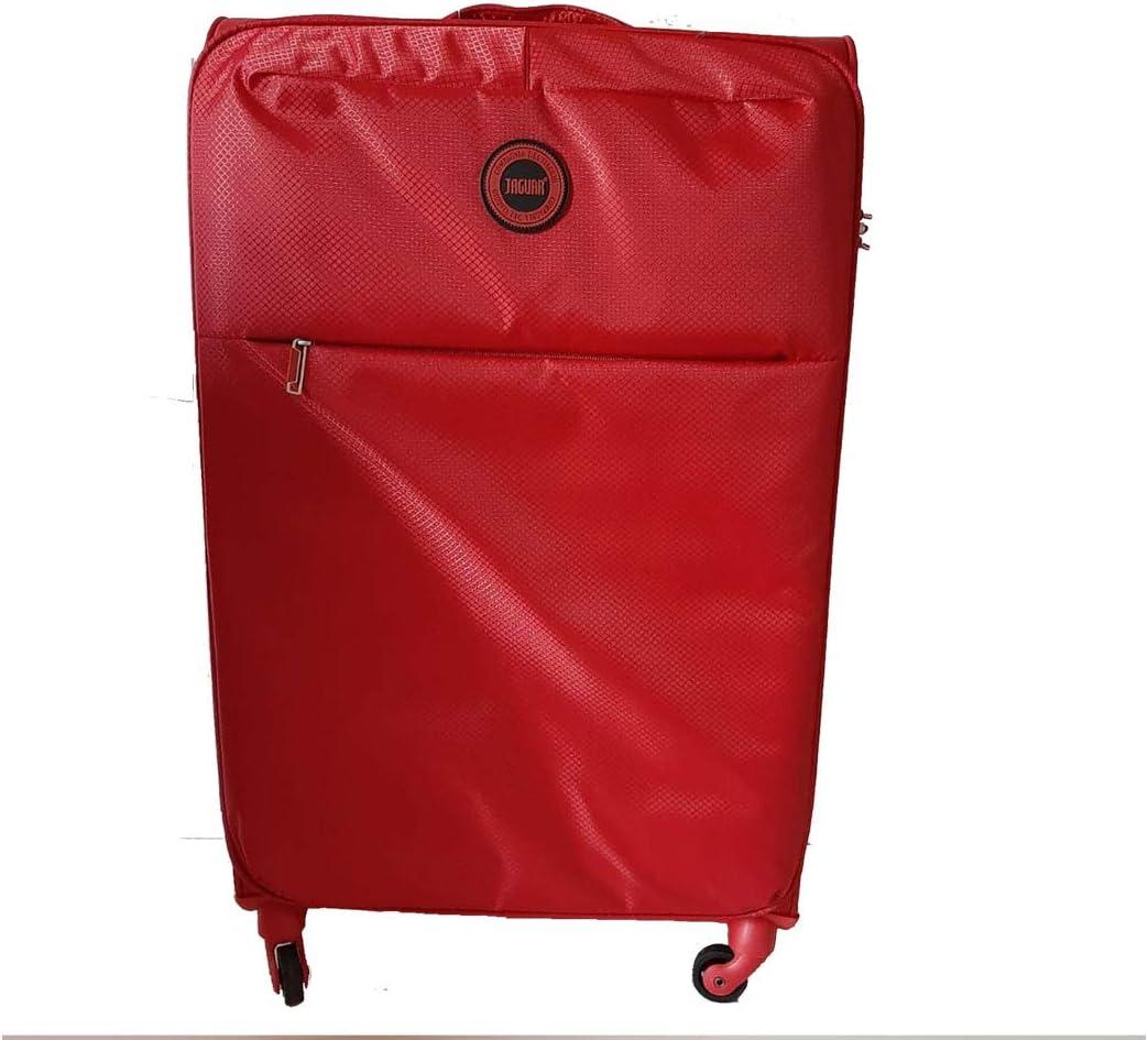 equipaje de mano rojo Jaguar 4 ruedas semirrígida Trolley de cabina ligero viajes Maleta pequeña 38 x 55 x 20 cm