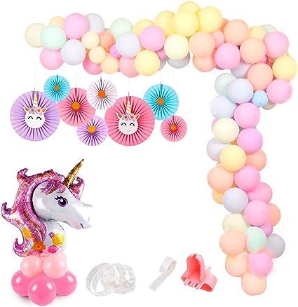 Amazon.com: Globos de guirnalda rosa, decoraciones de arco ...
