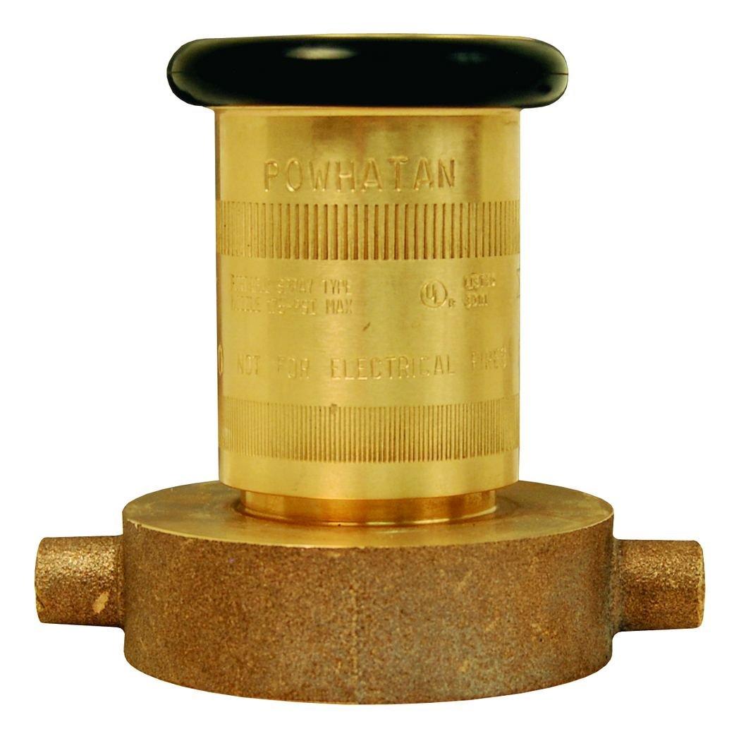 Dixon Valve BFN250NST Brass Fire Equipment, Industrial Fog Nozzle, 2-1/2'' NST (NH) Female, 100 psi Pressure