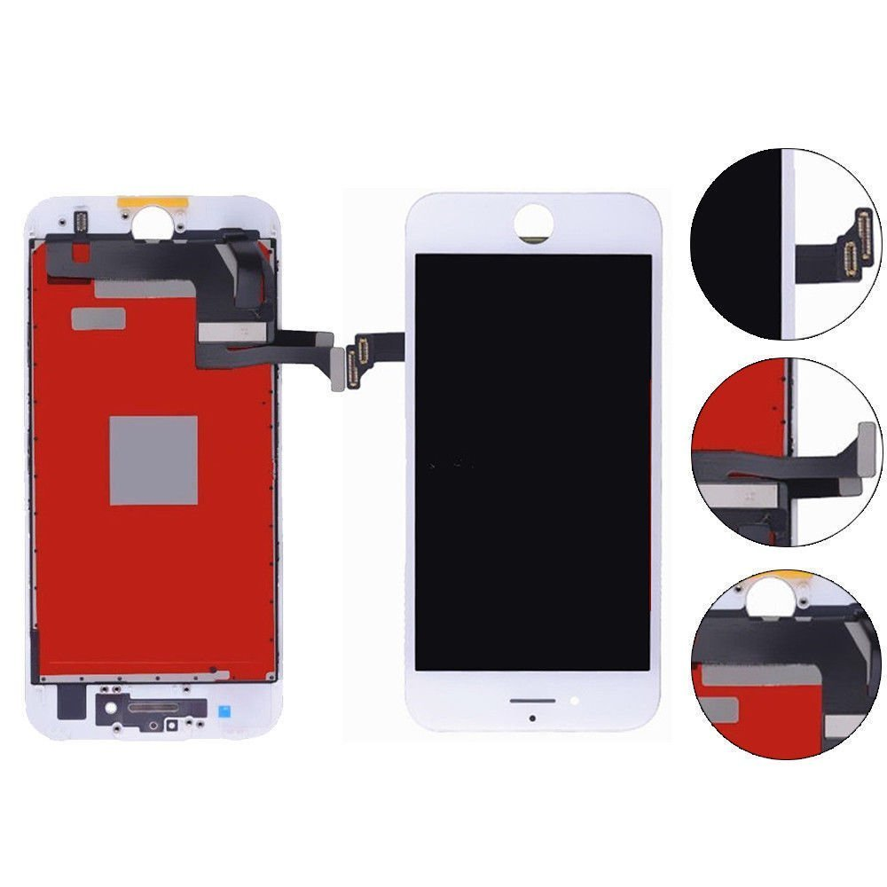 iPhone 7 screen replacement, iphone 7 lcd screen with Touch Screen Digitizer Fram Assembly Full Set + free Tools (white)