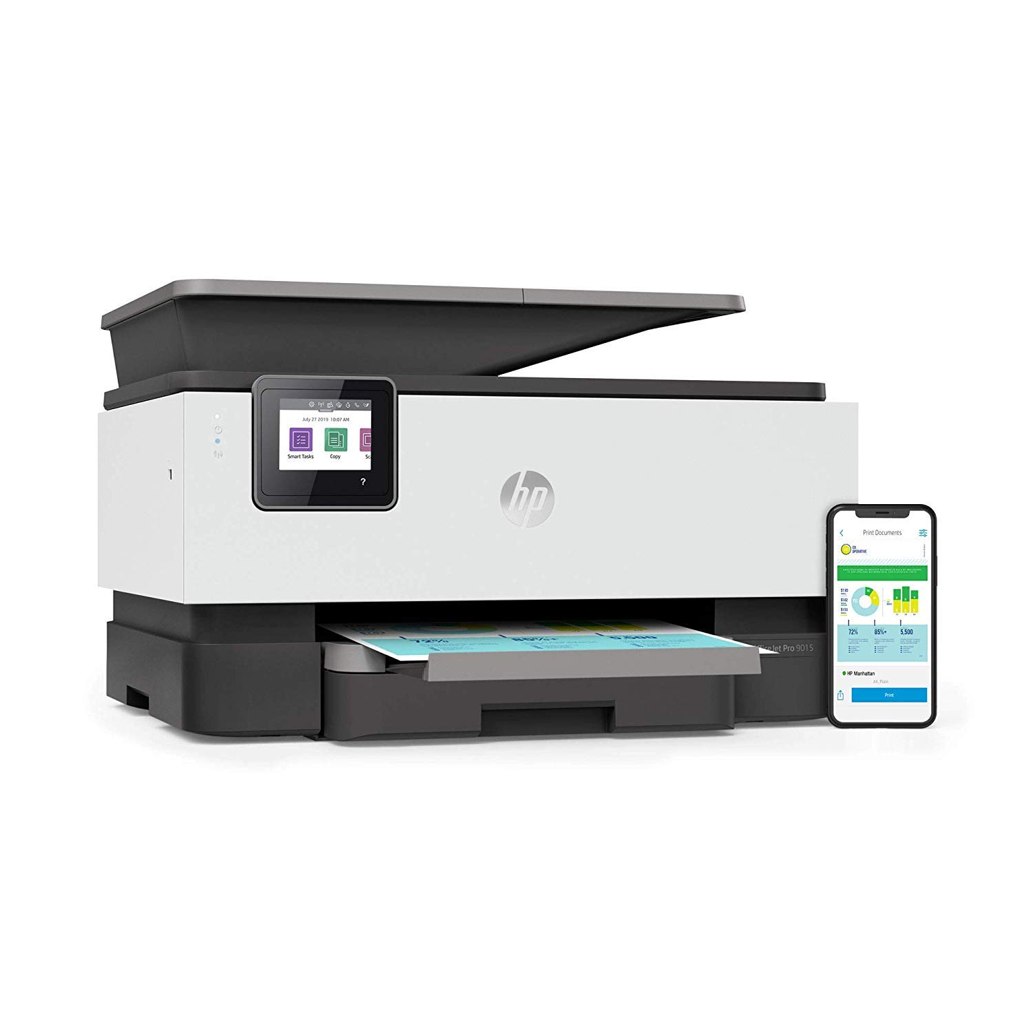 HP OfficeJet Pro 9015 All-in-One Wireless Printer, with Smart Tasks for Smart Office Productivity & Never Run Out of Ink with HP Instant Ink (1KR42A) by HP (Image #14)