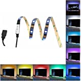 EONPOW 100CM/39.4 Inch Bias Lighting pour la HDTV Powered USB 30 LED Neon Strip Multi Color Strip RGB Accent Kit d'éclairage pour TV PC (Réduire la fatigue oculaire et augmenter la clarté d'image)