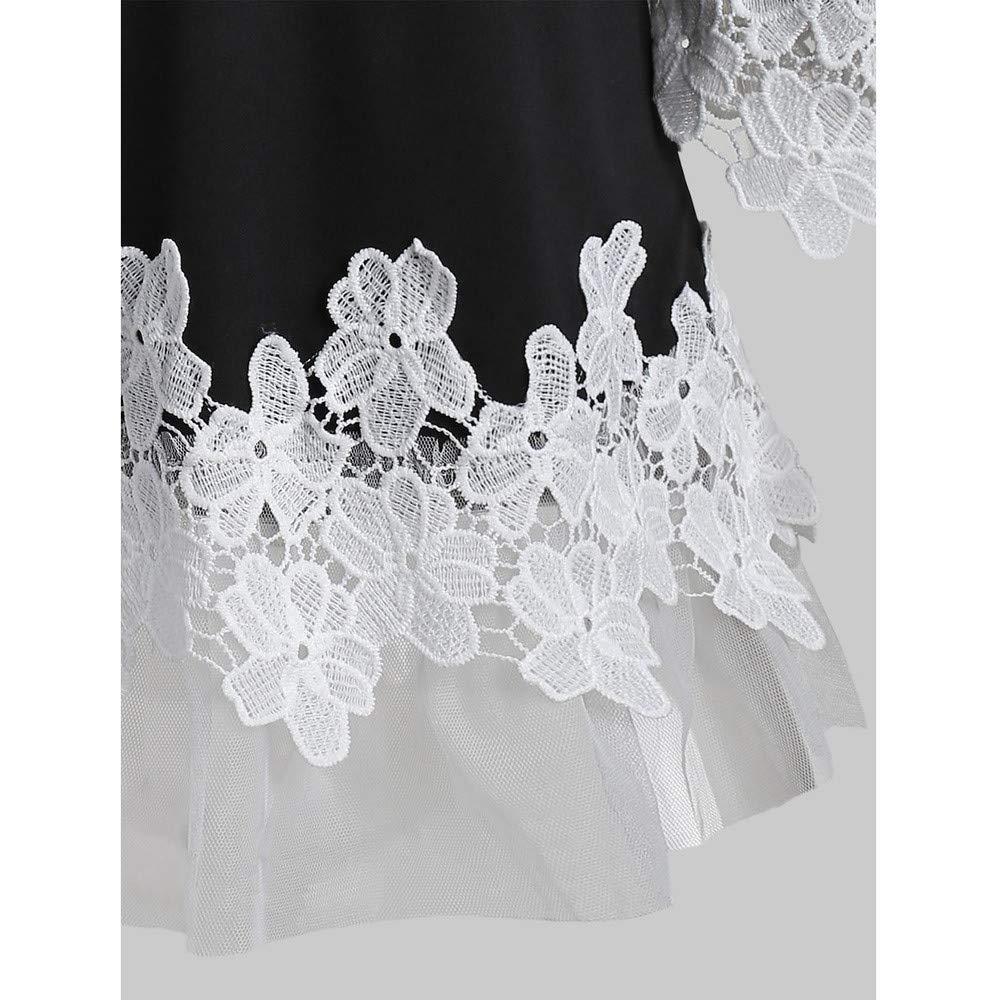 showsing-women clothes Fashion Womens Open Shoulder T-Shirt,Ladies Floral Applique Lace Mesh Camis Blouse Size 6-14 UK