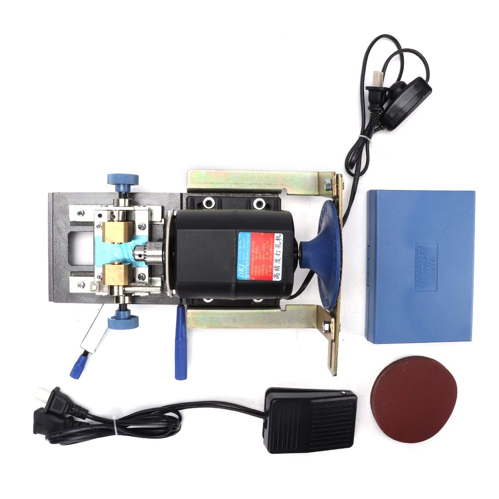 Image of Beading & Jewelry Making Salmue Jewelry Beads Pearls Drilling Machine, 450W Drilling Holing Machine DIY Wood Drill Beads Driller Set Jewelry Making Tools