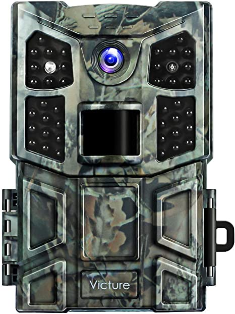 Victure Trail Camera 20MP with Night Vision Motion Activated 1080P Wildlife Game Camera No Glow with 0.2s Trigger Speed and Upgrade Waterproof Design ...