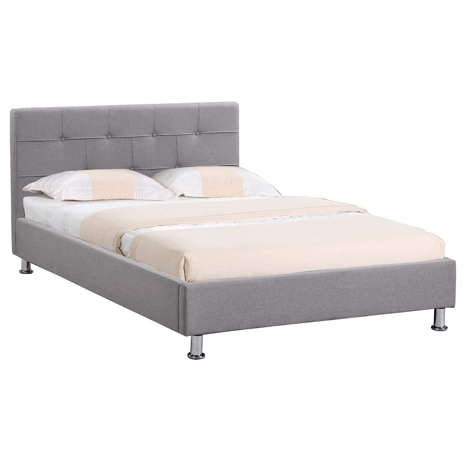 IDIMEX Lit Simple pour Adulte Nizza Couchage 120 x 190 cm 1 Place et Demi   2e58759f5151