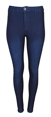 76db53b12ac39 Lolo Jeans Women\'s Stretch Yoga Denim Pants With Low Button, Dark Wash