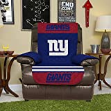 NFL New York Giants Recliner Reversible Furniture Protector with Elastic Straps, 80-inches by 65-inches