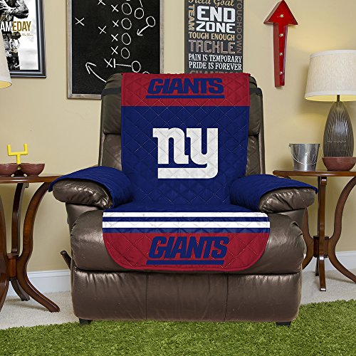 - NFL New York Giants Recliner Reversible Furniture Protector with Elastic Straps, 80-inches by 65-inches