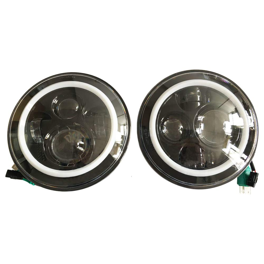 Sxma Emark 17,8 cm rotondo LED fari con Amber DRL Halo frecce
