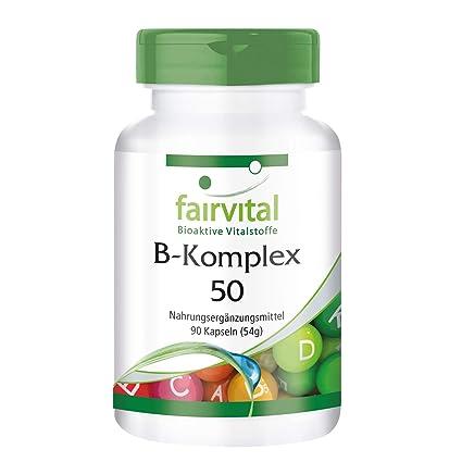 complejo B 50 - GRANEL durante 3 meses - VEGAN - ALTA DOSIS - 90 cápsulas