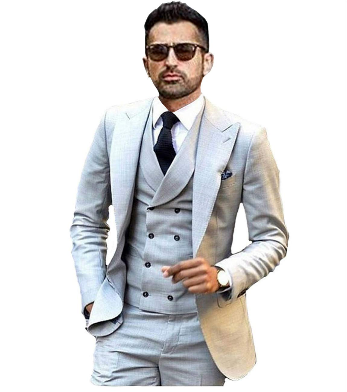 Jy Men S Fashion 3 Pieces Men Suits Wedding Suits For Men Groom Tuxedos Buy Online In India At Desertcart In Productid 55531653