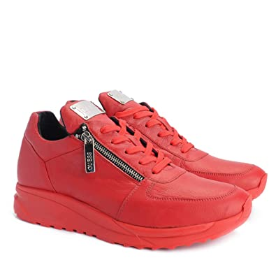 GUESS Femme Panny Synthétique Rouge Chaussures [pUTlnIY6