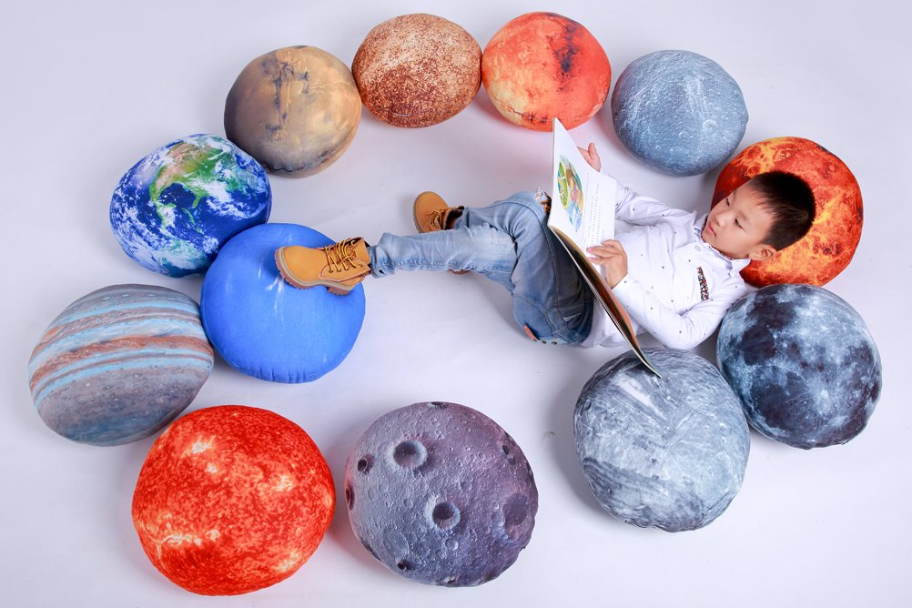 Vercart (TM) - 3D Analog Earth Pattern Throw Pillows 18''x18''(12 PCS) - Plush Toys For Children Creative Home Decoration Photo Or Film Props (ST081)