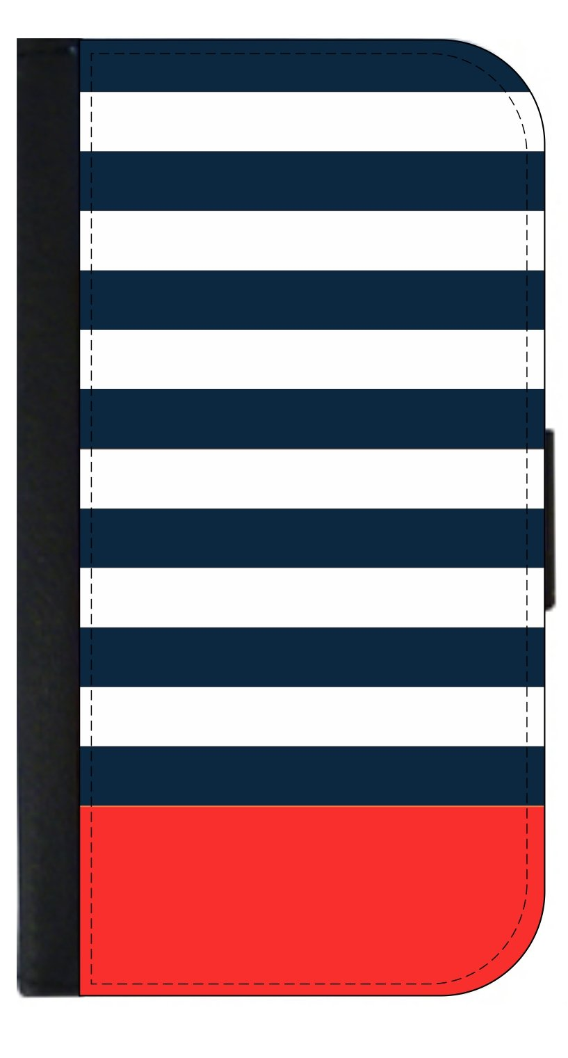 Blue Red Stripes - Passport Cover / Card Holder for Travel