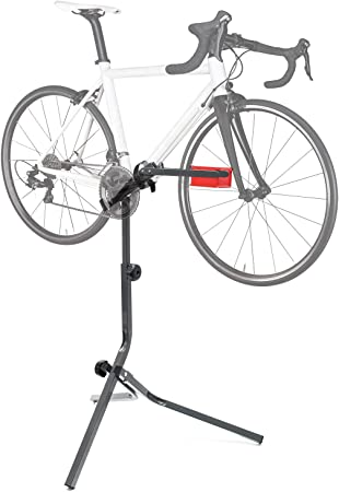 WilTec Soporte reparación Bici Caballete Montaje Bicicleta hasta 30kg Taller Profesionales Hobby Ciclismo