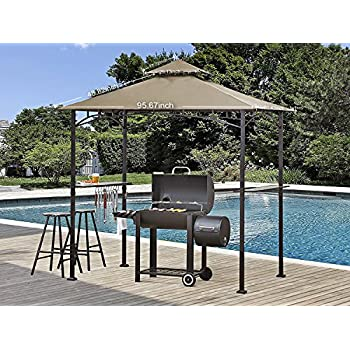 Abccanopy Grill Shelter Replacement Canopy Roof For Model L GZ238PST 11 Beige