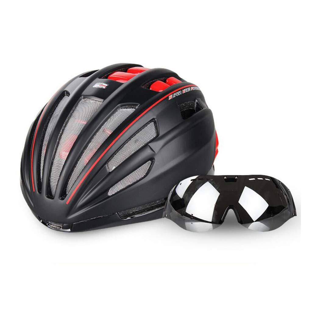 【通販激安】 自転車ヘルメット B07PRJH1Y4 Red、自転車ヘルメットロードマウンテンバイク安全キャップ調節可能な軽量大人用スポーツヘルメットゴーグル Red B07PRJH1Y4 Red Red, Four Seasons Jewellery:248744cc --- a0267596.xsph.ru