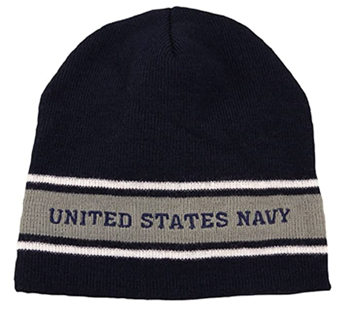 Amazon.com  U.S. Navy Striped Watch Cap Beanie 8b3b273f2a1e