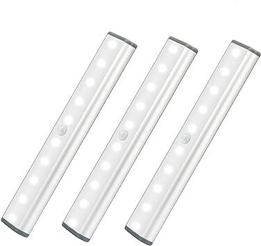 led motion sensor cabinet light under counter closet lighting wireless usb rechargeable 10 led kitchen lights battery powered operated light stick