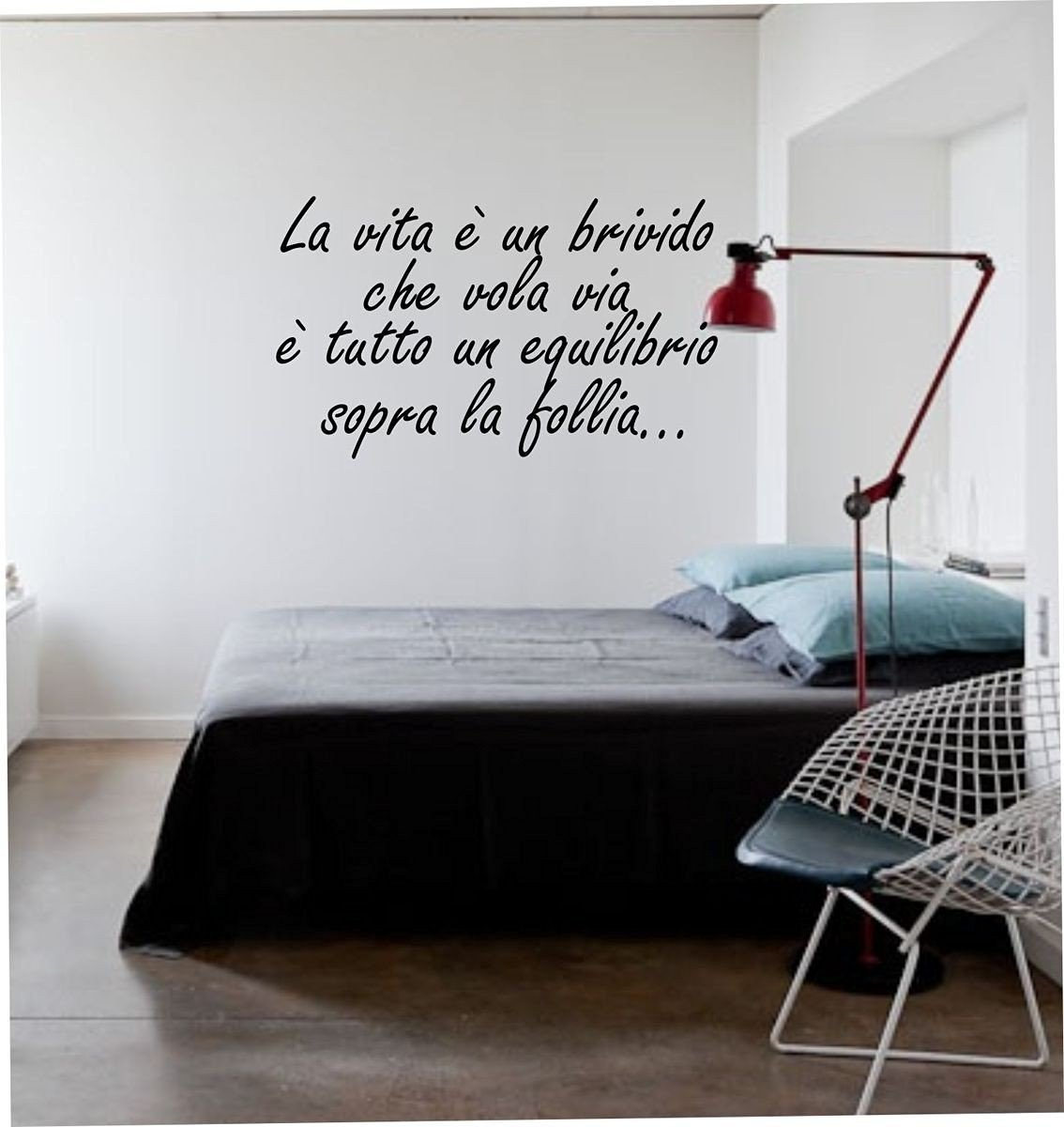 Adesivo4You® wall stickers Adesivo murale fraseLa vita è un brivido che vola via -decorazione interni (MEDIUM 100 CM. X 40 CM.) Officina dell' idea