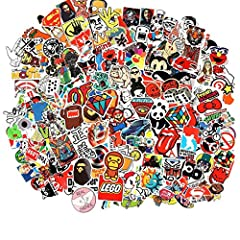 Cool Sticker 50pc-300pcs Random Music Film Vinyl Skateboard Guitar Travel Case Sticker Door Laptop Luggage Car Bike Bicycle Stickers.as the sticker count by human woker sometimes may miss few. if there are not 100 pics in the pack. contact se...