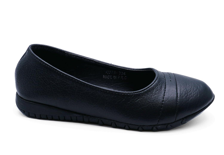71d5be7aa1 HeelzSoHigh Girls Black School Slip-On Kids Smart Flat Childrens Ballerina  Shoes Pumps Sizes 12-3: Amazon.co.uk: Shoes & Bags