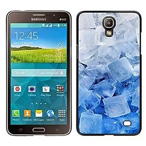 EJOY---Cubierta de la caja de protección para la piel dura ** Samsung Galaxy Mega 2 ** --Enfriar los cristales de hielo Azul Blanco Invierno Nieve