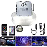 AKEPO Car Home Use 32W RGBW Twinkle+ Sound Activated+ APP Fiber Optic Lights Kit Star Ceiling Sky Light with Total 800pcs in