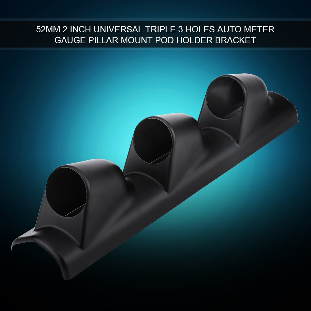 Triple Holes Universal 52mm 2 Inch Meter Gauge Pillar Mount Pod Holder Bracket Cover for Car Auto Boat Motorcycle