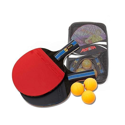 LYPL Translucent Bolsa Dos Asa Corta Raqueta De Ping Pong con 3 De ...