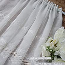 FADFAY Home Textile,Delicate Flowers Embroidery Curtain,Modern Hollow Out Short Curtains For The Bedroom,Designer Cafe Curtains For The Kitchen