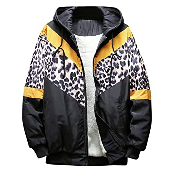 Amazon.com : Ennglun Mens Athletics Jacket, Men Leopard ...